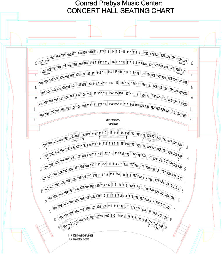 CPMC Concert Hall Seating Chart