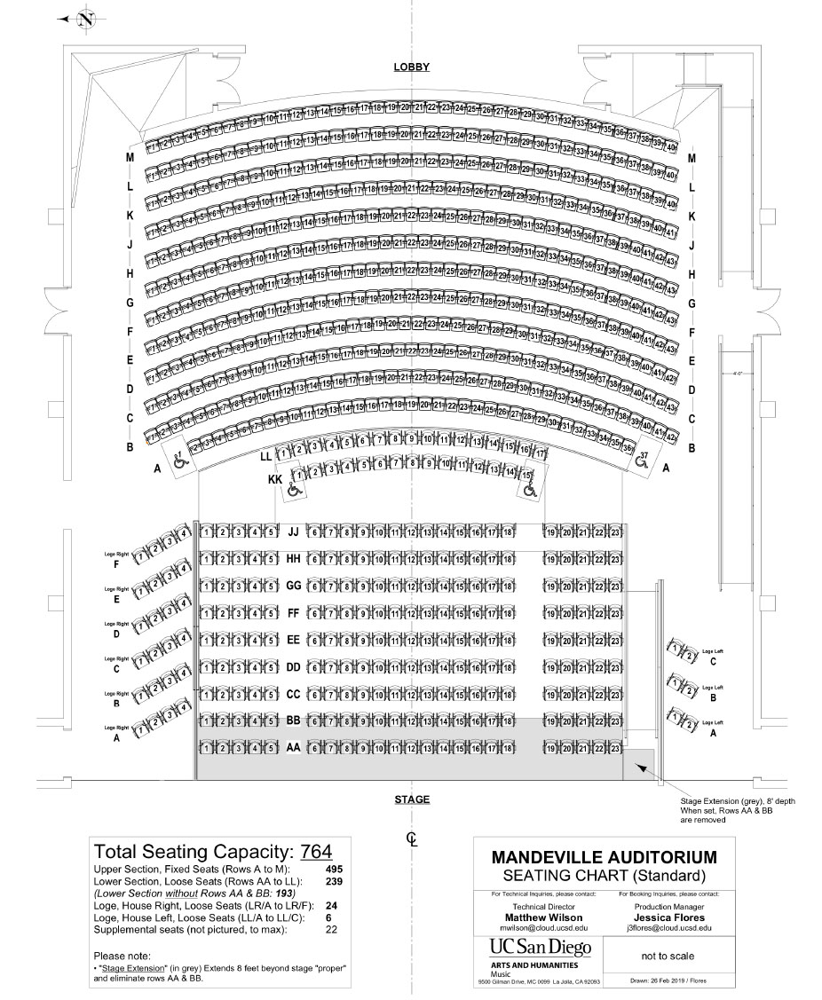 Mandeville Seating Chart